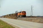 BNSF 6421 Heads up a coal load.