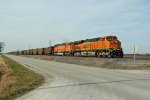 BNSF 6421 leads a Eb coal load.