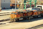 BNSF 7607 and more sit around the yard.