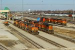 BNSF 4393 and other's sit and waite
