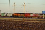 BNSF 519 and bnsf 1998 sit silent.