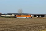 BNSF 9105 Heads EB into Galesburg.