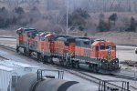 BNSF 2302 and others move around the yard.