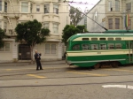 SF PCC 1051 Reversing at the Castro Terminal