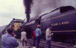 "Erie Lackawanna #3618 [SD45] meets ""Delaware & Hudson #302"" at Callicoon"
