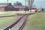 Unusual trackwork arrangement in industrial area