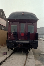 End view of N&W Business Car #300 Roanake