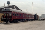N&W Business Car #300 Roanoke in front of ABB shops