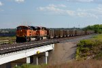 BNSF SD70ACe 9149 crosses I-27 in Canyon, TX.
