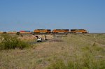 BNSF ES44DC 7610 crosses US 60 heading into Fort Sumner, NM
