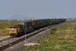 UP 7370 (AC45CCTE) heads yet another stack train east near Akela, NM.