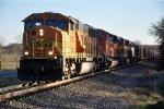 Coal empties roll north