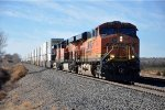 Intermodal cruises eastbound
