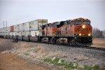 Eastbound intermodal nears Walker siding for a meet