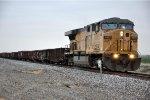 Work train prepares to enter siding