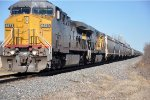 Grain train rolls south