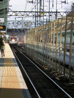 MNRR/NJT Football Train Barrels past Fairfield Metro