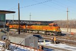 BNSF 4662 sits in the Bnsf yard,