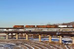 BNSF 7299 lead SANTA FE TRAIN 199 WB,