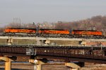 BNSF 6612 Heads a Wb stack train On the High line.