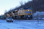 UP 7658 Heads Wb At sugar creek Mo.