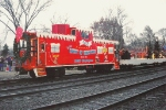BNSF Christmas train with caboose