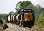 CSX 6148 leads D707 towards Lansing