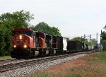 M397 heads west behind three SD75I's