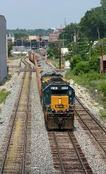 CSX 8161 and 7574 lead W082 into the yard