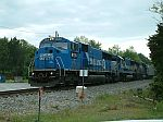 Trio of SD60 variants on train 15T