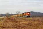 BNSF 5884 Takes a Coal load Sb.
