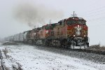 BNSF 4875 Slow's for a meet.