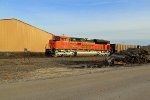 Brand new Bnsf sd70ace on a empty coal train.