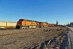 BNSF 5891 Heads up a Nb ore train.
