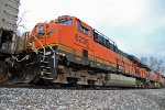 BNSF 6235 3rd unit back on a coal train.