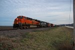 BNSF 7908 Heads into the last light of the day.