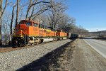 BNSF 9292 Leads a Empty coal Nb.