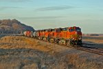 BNSF 4397 Slow's to a roll.