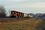 BNSF 7025 heads out of Elsberry Mo.