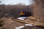 BNSF 6426 leans Hard into the curve.
