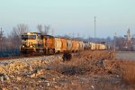 BNSF 9820 Heads Sb with a fright in tow.