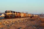 BNSF 9820 Heads into morning light.
