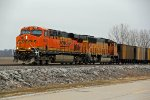 BNSF 6331 leads a empty ucex Coal Nb,