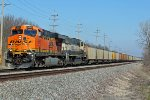 BNSF 5967 Leads another Load of coal.