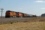 BNSF 5002 Sits dead on the Law in the siding.