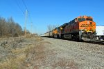 BNSF 6070 Comes to a crawl.