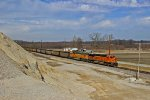 BNSF 6030 Leads a coal load Sb down the k line.