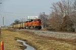 BNSF 6258 Brings a coal load into Winfield Mo.