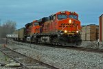 BNSF 5868 rocks a sb coal load.