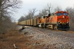 BNSF 5919 heads up a sb coal load.